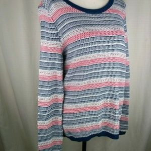 Tommy Hilfiger | Women's Shimmer Striped Sweater